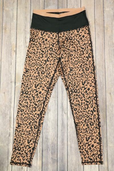 Mocha Leopard Print Active Leggings - Sizes 4-12