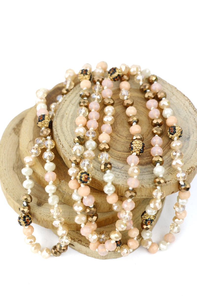 Your New Favorite Mixed Beaded Necklace With A Hint Of Leopard In Multiple Colors