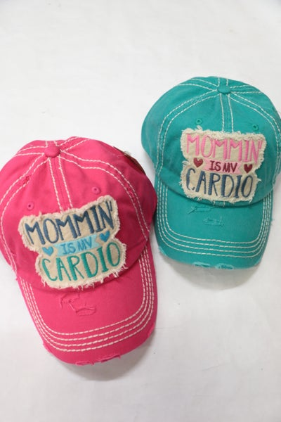 Mommin' is My Cardio Baseball Cap in Multiple Colors