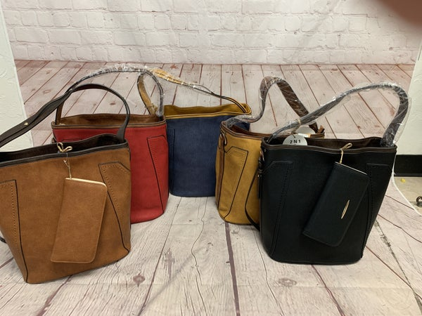 Could have Sworn Hobo Zipper Top Bag with Matching Wallet and Shoulder Strap in Multiple Colors