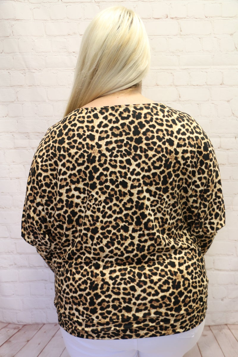 Now Or Never Leopard Dolman Top - Sizes 12-20