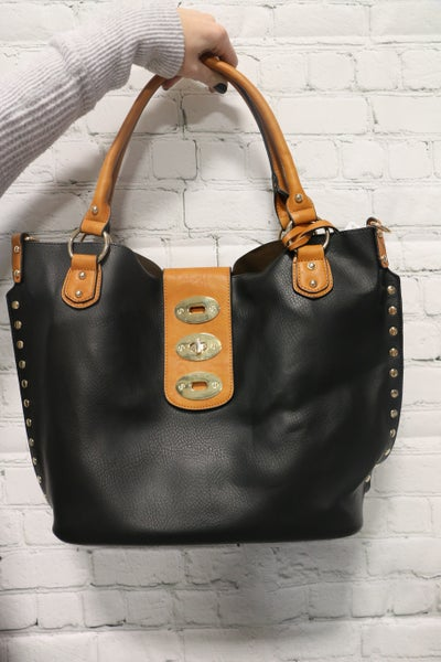 Make Your Own Path Large Tote Purse with Buckle in Multiple Colors