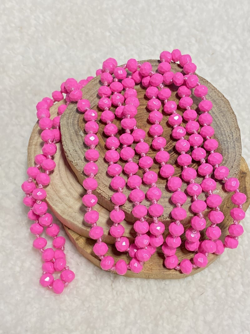 Pink Peony Point Of Perfection Beaded Necklace