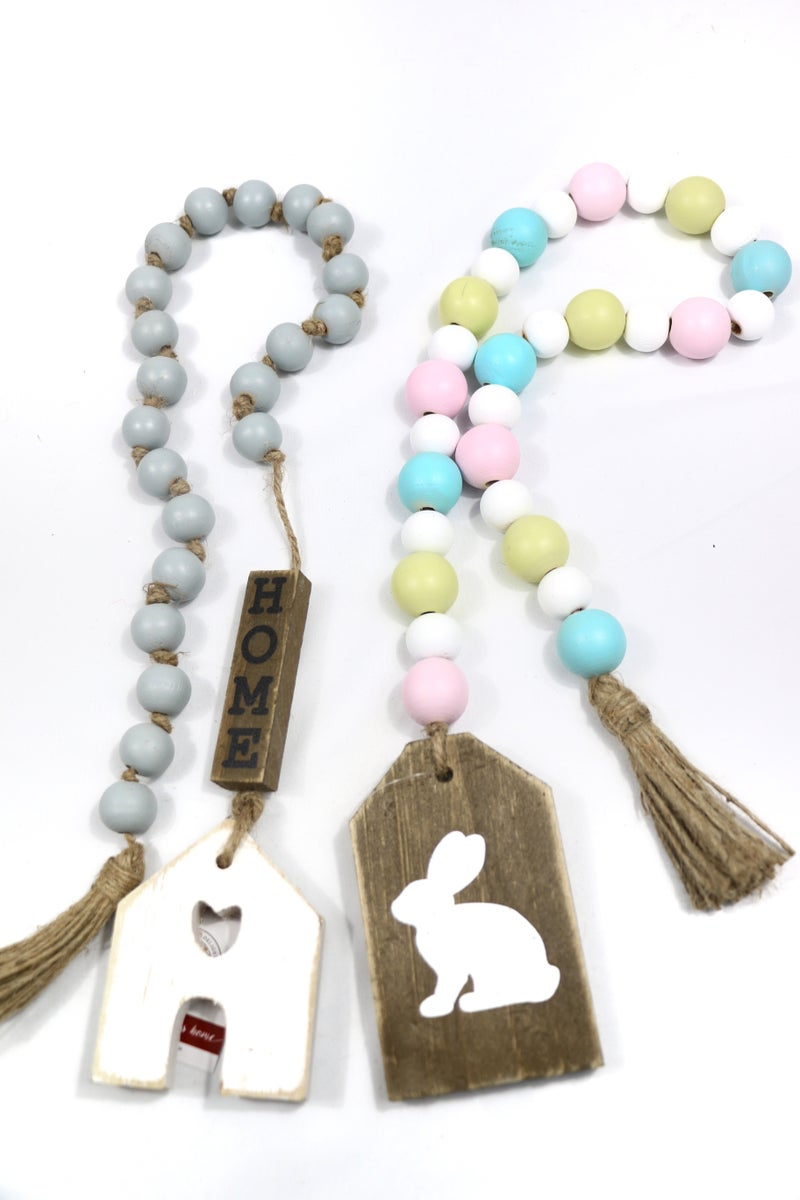 Spring Is Here Wood Garland With Wood Pendant In Multiple Designs