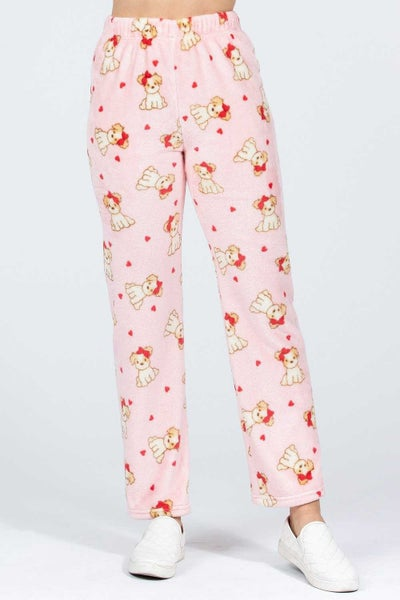 Sweetest Little Thing Pink Puppy Pajama Bottoms - Sizes 4-10
