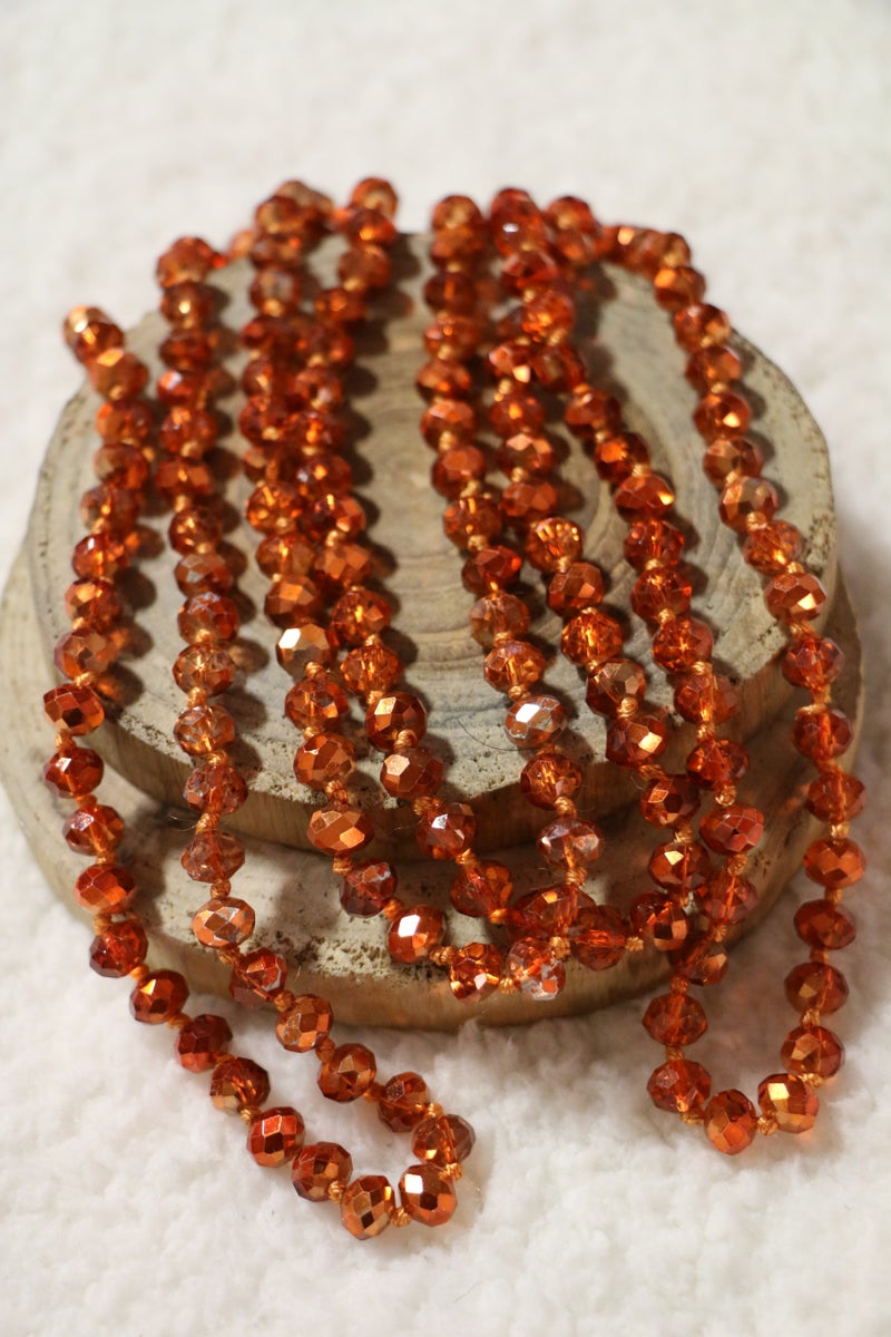 Sun Fire Point Of Perfection Beaded Necklace