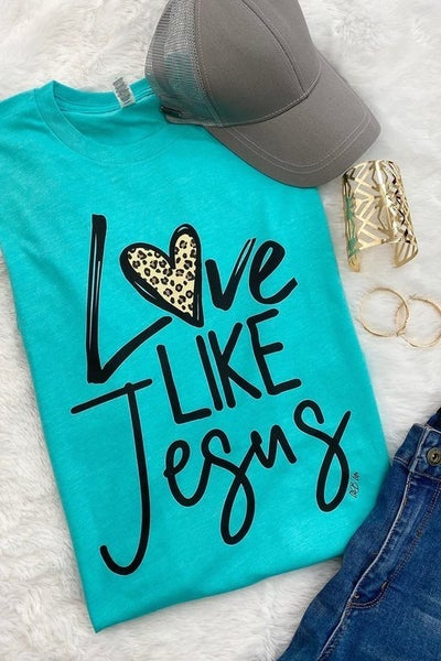 Love Like Jesus Graphic Tee in Multiple Colors - Sizes 4-20