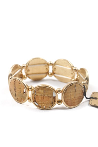 Circle Stretch Cork Bracelet