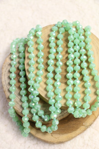 Grass Green Point Of Perfection Beaded Necklace