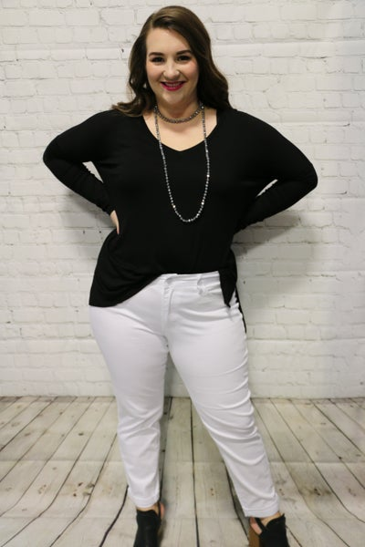 The Blakely High Rise White Jeans - Sizes 12-20