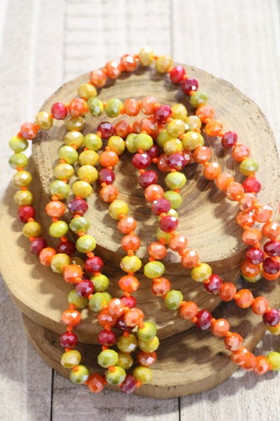 Sunset Point Of Perfection Beaded Necklace