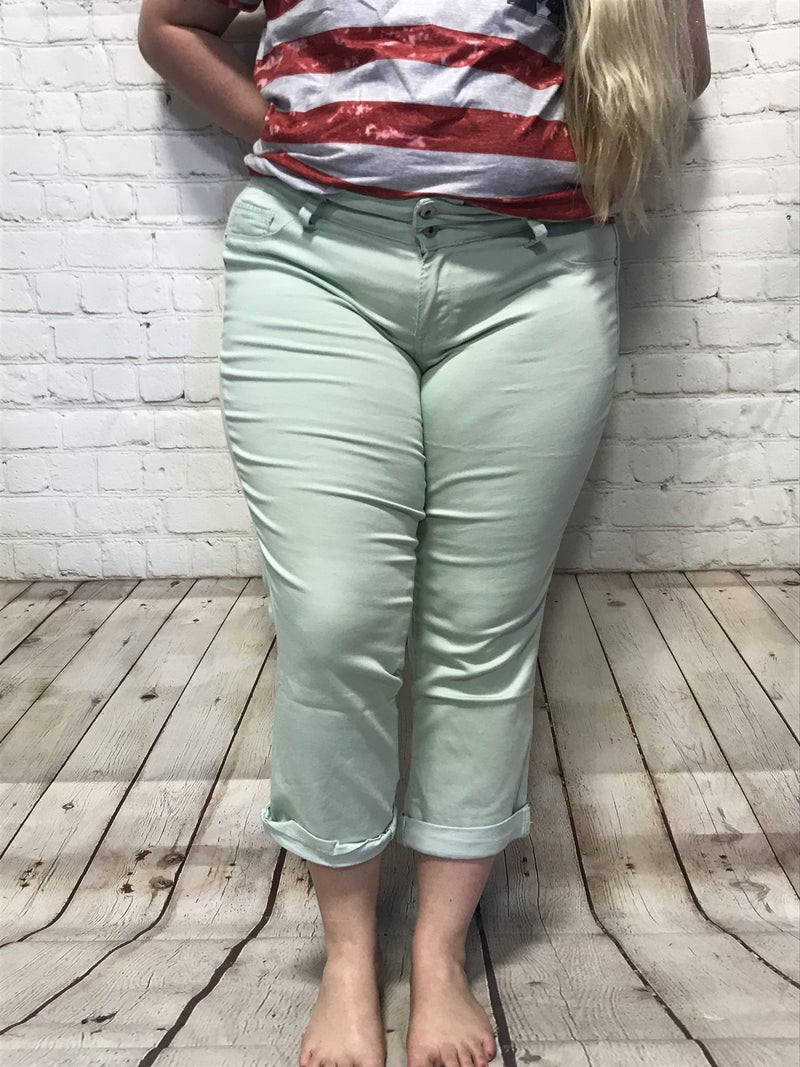 Stretchy & Comfy Colored Capris in Multiple Colors - Sizes 14-24