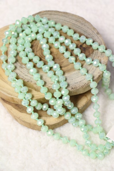 Point Of Perfection Beaded Necklace In Sea Glass