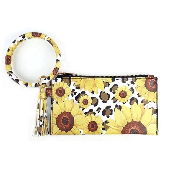 As You Walk On By Sunflower Wallet & Keyring In Multiple Prints