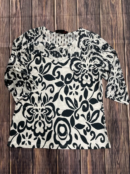 My Time Is Now Damask 3/4 Sleeve Top - Sizes 4-12