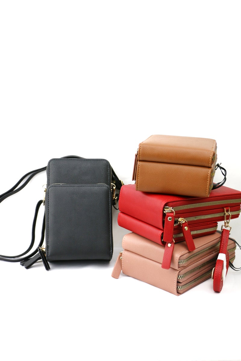 Young At Heart Wallet Crossbody Bag In Multiple Colors