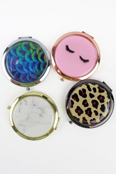Stylish Compact Mirrors in Multiple Prints