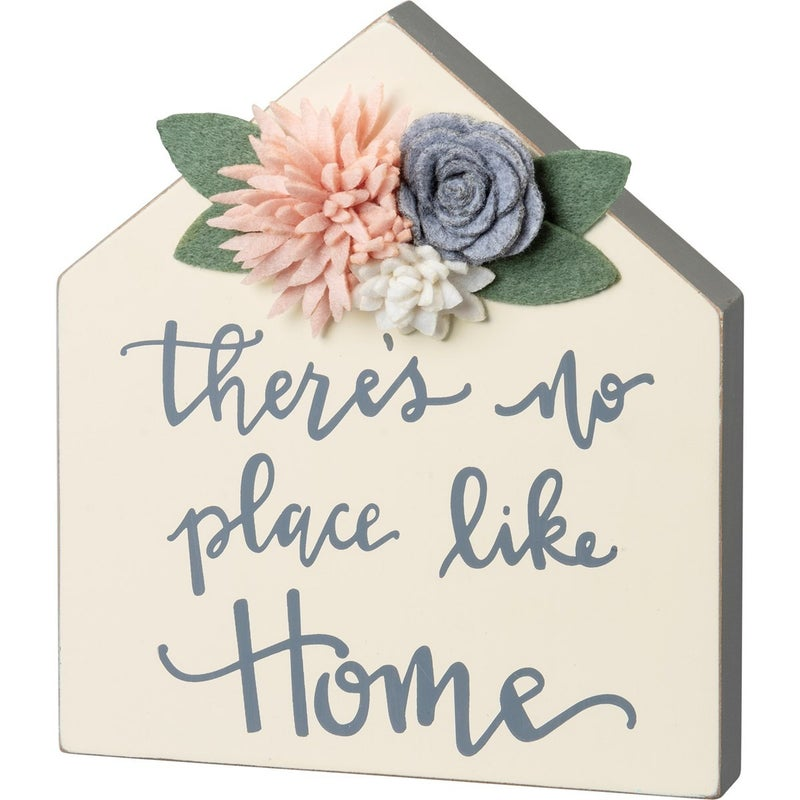 There's No Place Like Home Chunky Wood Block Decor