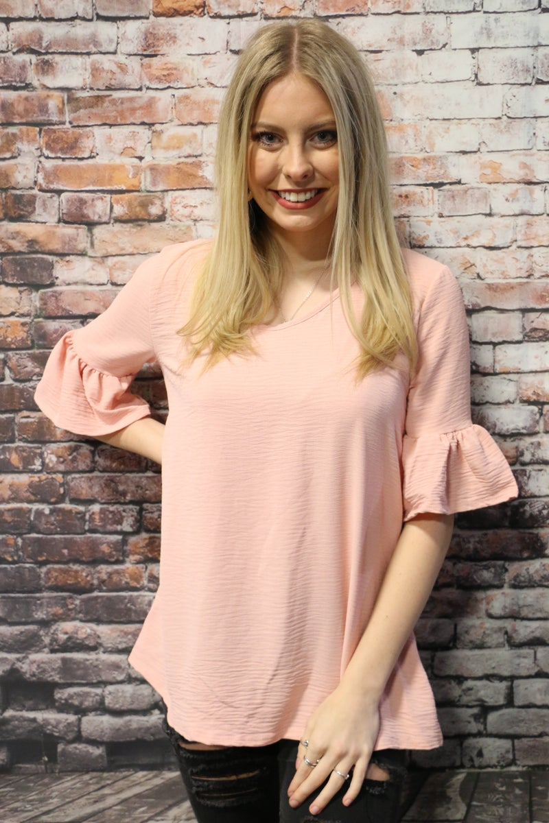 Make It Shine Ruffle Sleeve Top In Multiple Colors- Sizes 4-20