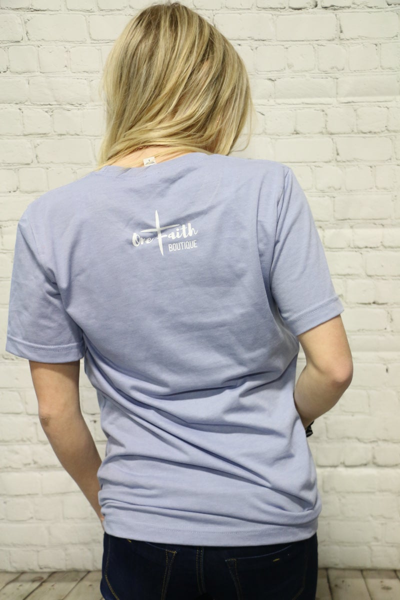 Take Up Your Cross April Month Of Ministry Tee In Cornflower Blue- Sizes 4-20