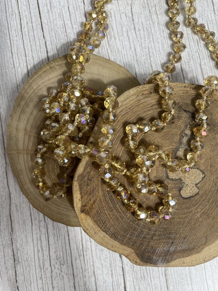 Champagne Point of Perfection Beaded Necklace