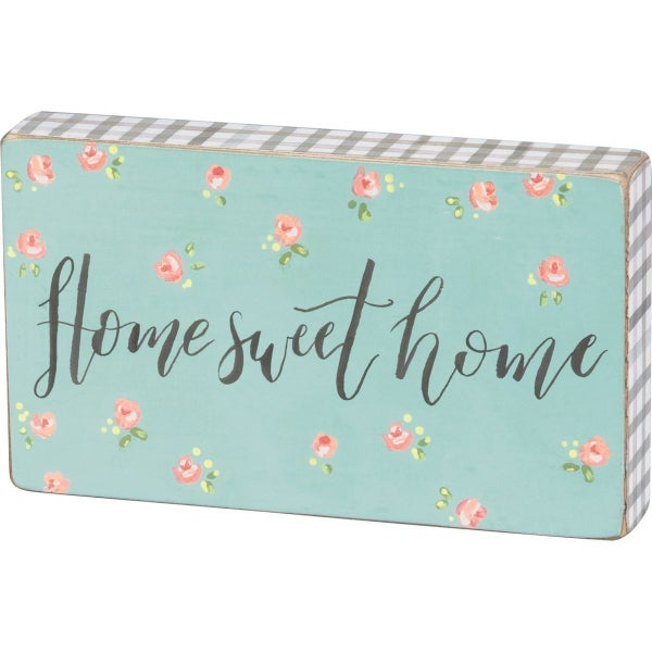 Home Sweet Home Wood Block Sign