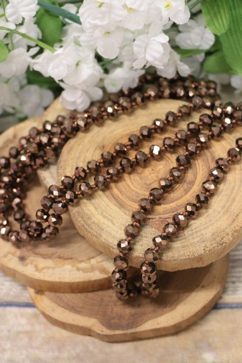 Point Of Perfection Beaded Necklace In Syrup