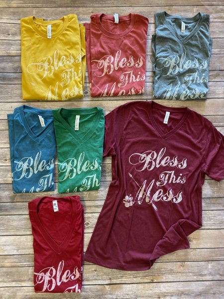 ***PRE-ORDER*** Bless This Mess Graphic Tee in Multiple Colors