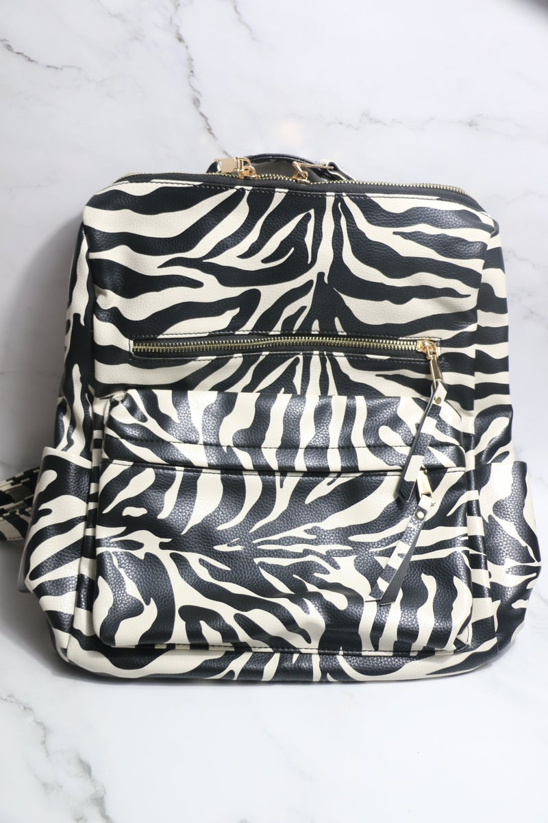 Here We Come Convertible Backpack With Contrasting Shoulder Strap In Multiple Colors