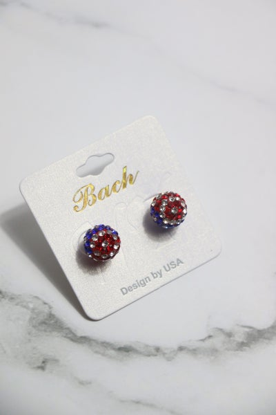 Glory Flag Shimmer And Shine Stud Earrings