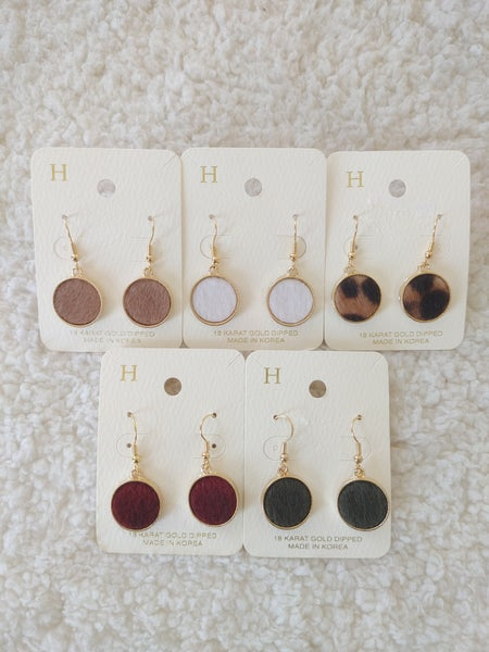 Empowered Circle Ponyhair Drop Earring In Multiple Colors