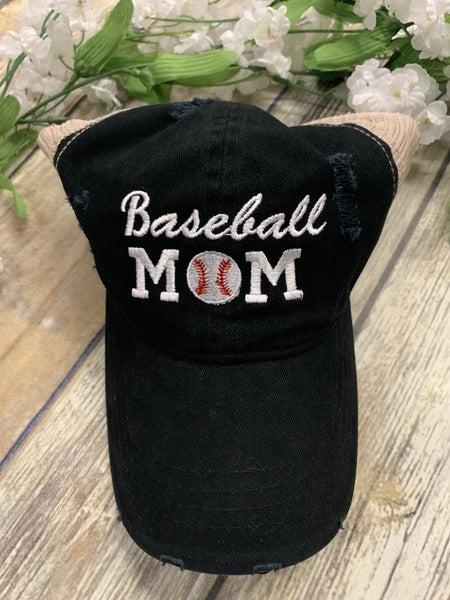 Baseball Mom Ballcap in Multiple Colors