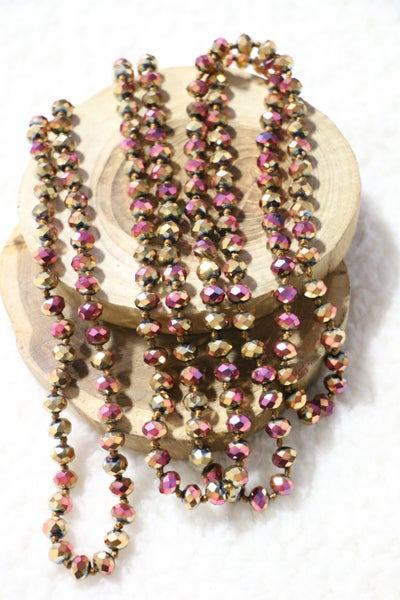 Golden Rose Point Of Perfection Beaded Necklace