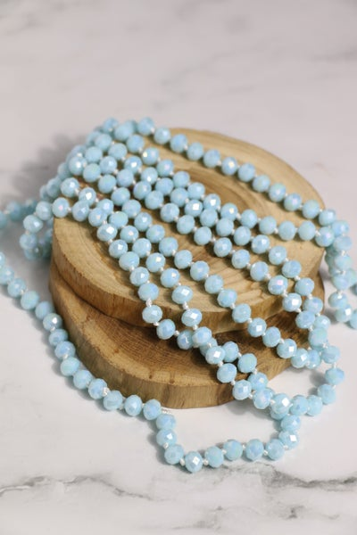 Baby Blue Point Of Perfection Beaded Necklace
