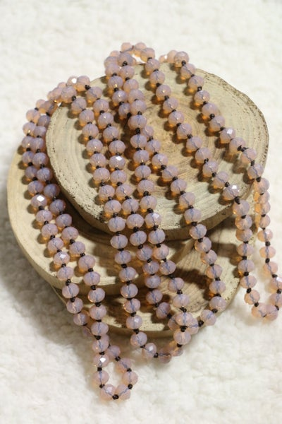 Vintage Pink Point Of Perfection Beaded Necklace
