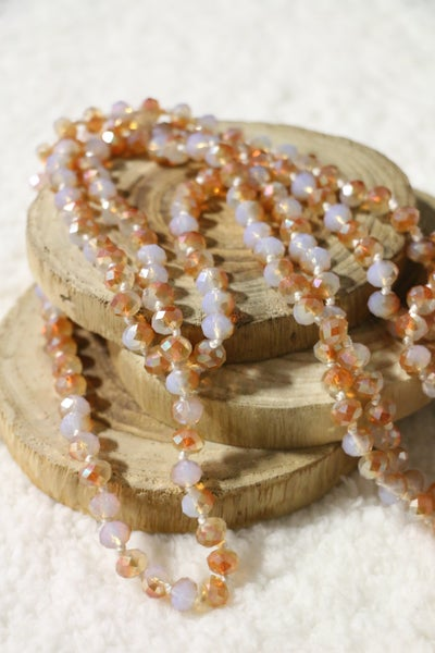 Caramel Popcorn Point Of Perfection Beaded Necklace