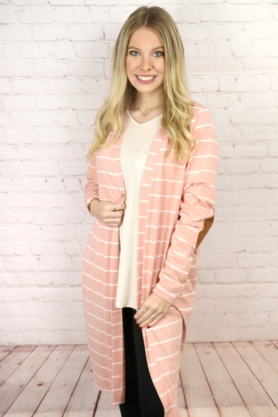 Get Their Attention Striped Cardigan in Multiple Colors - Sizes 4-20