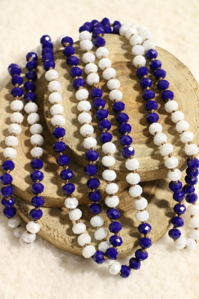Blueberry Cream Point Of Perfection Beaded Necklace