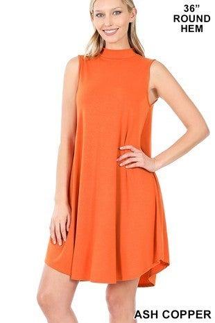 Shake It Off Mock Neck Sleeveless Dress - Sizes 4-12