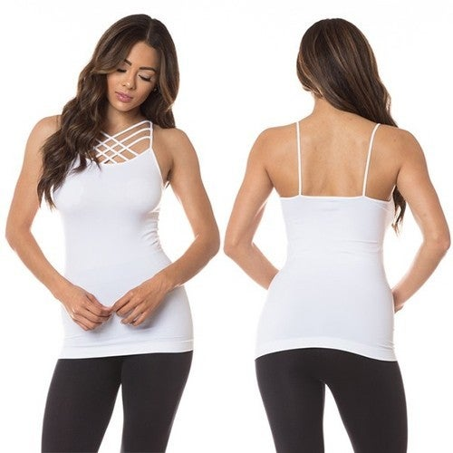 Absolute Necessity Triple Criss-Cross Seamless Cami in Multiple Colors - Size 4-16