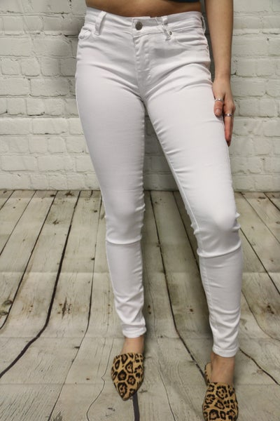 The Kayden  White Skinny Jeans- Sizes 1-15