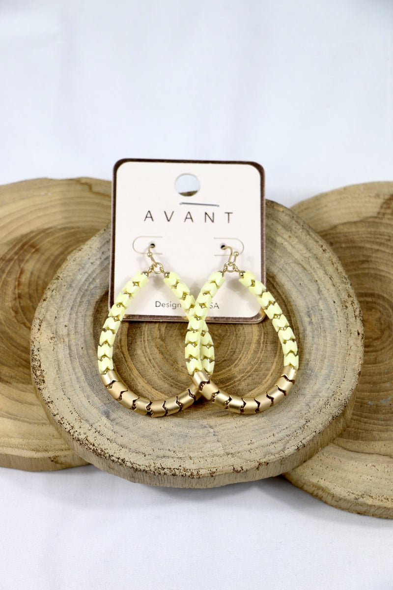 Pump It Up Gold And Scalloped Bead Teardrop Earring In Multiple Colors