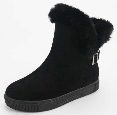 Believe in Myself Faux Fur Lined Snow Boots with Buckle in Multiple Colors - Sizes 5.5-10