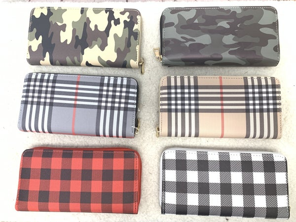 Time To Go Zipper Wallet In Multiple Colors