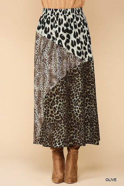 Clear Your Mind Animal Print Skirt - Sizes 4-10