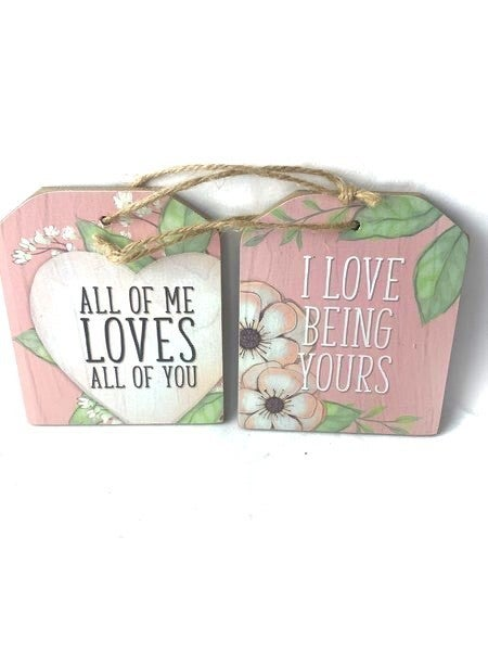 Wooden Gift Tags With LOVE Sentiments In Multiple Sayings