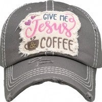 Give Me Jesus & Coffee Ballcap In Multiple Colors