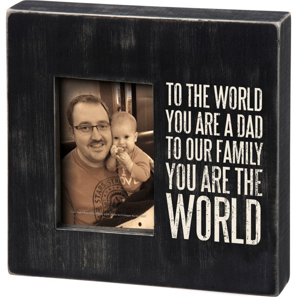 To The World Dad Picture Box Frame