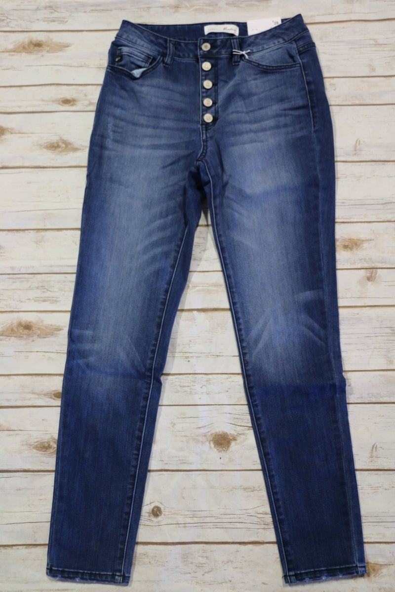 The Lisa 5 Button KanCan Skinny Jeans - Sizes 4-15