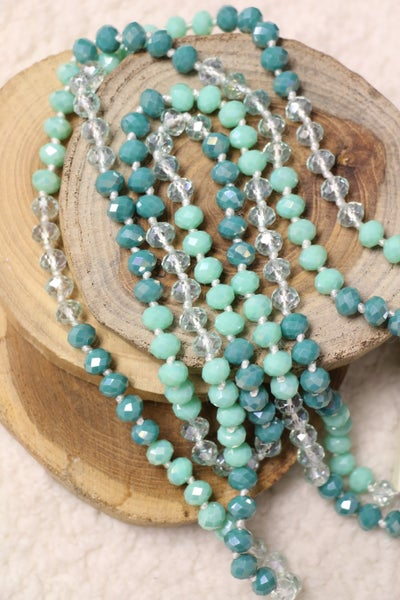 Point Of Perfection Beaded Necklace In Crystal Jade